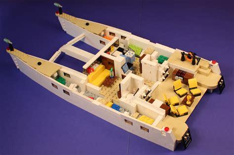 Boat Catamaran Lego by Wallpaper Sailboat Lego Yacht Catamaran 3433x2281