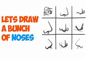 How to Draw Noses from All Different Angles and Positions ...