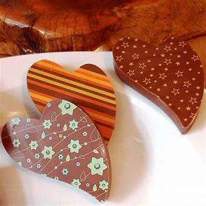 milk chocolate heart by choklet | notonthehighstreet.com