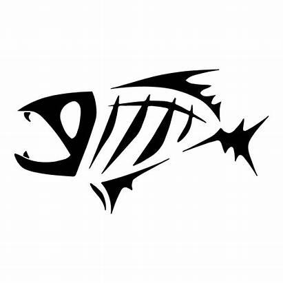 Fish Skeleton Decal Bone Sticker Loomis Clipart