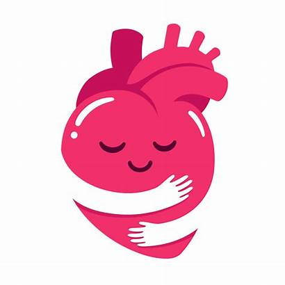 Self Heart Hug Cartoon Hugging Care Arms
