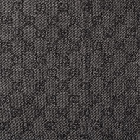 gucci wool monogram fringe scarf anthracite black