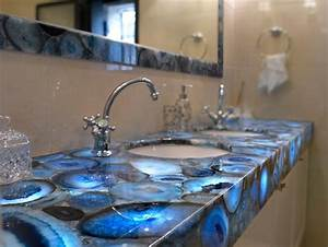 majesticvanity majestic gemstone slab polished blue israel With kitchen colors with white cabinets with geode agate wall art