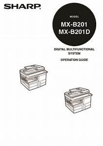 Sharp Mx  Operation Manual