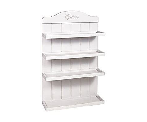 White Wood Spice Rack by Small Wooden Painted Spice Rack White The House