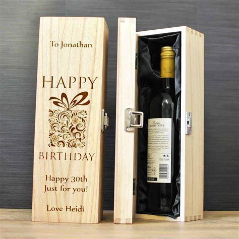 personalised happy birthday wine box