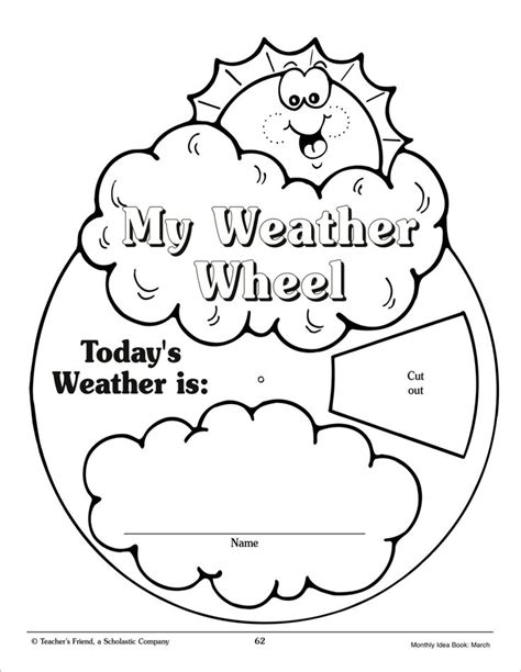 my weather wheel march monthly idea book printables