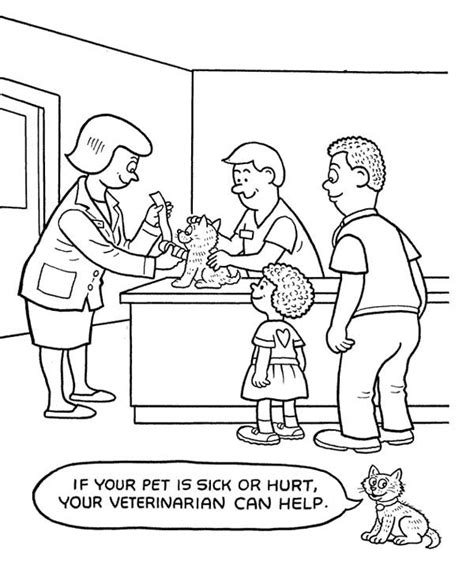 veterinary coloring pages sketch coloring page