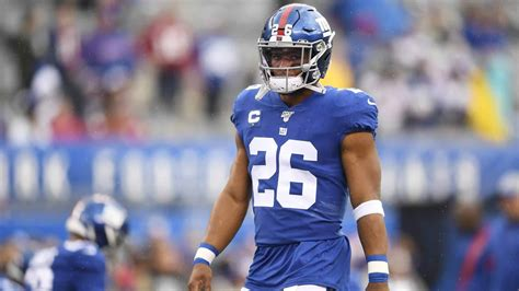 york giants news saquon barkley feels  ankle held