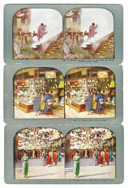 Some cards (like popular niagara falls views by big companies) are relatively common even today. Antique Colorized Stereoscope Cards of Osaka Japan ...