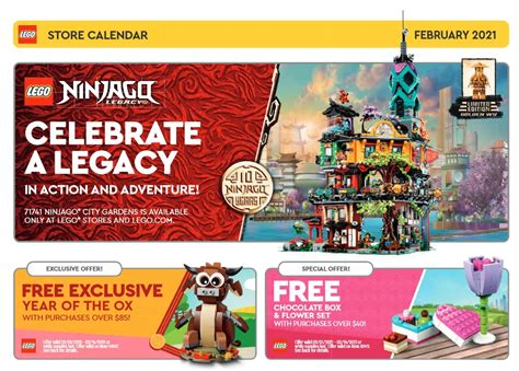 LEGO February 2021 Store Calendar Promotions & Events ...