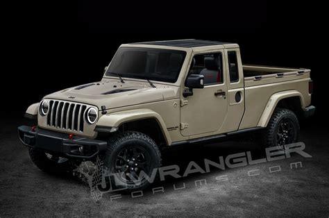 jeep wrangler  door pickup truck rendering