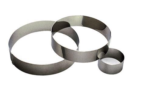 plaque en inox pour cuisine cercles mousse inox sans fond hauteur 4 5 cm ustensile