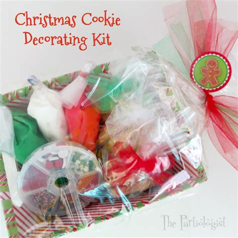 the partiologist christmas cookie decorating kit