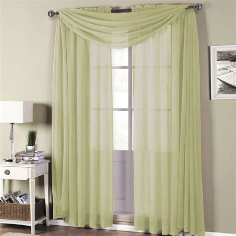 abri crushed sheer rod pocket curtain panels 50 quot x 63 quot