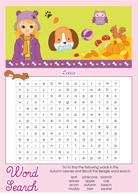 fall word search  brain training activity shelter