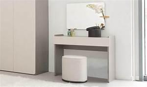 Coiffeuse Meuble Moderne : meuble coiffeuse pour chambre adulte bois gris design contemporain ~ Teatrodelosmanantiales.com Idées de Décoration