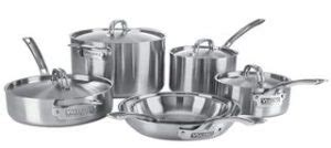 viking  ply  ss  piece cookware set silver