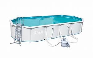 Filtre A Sable Bestway : piscine bestway ovale hydrium steel wall 740 x 360 x 120 ~ Voncanada.com Idées de Décoration