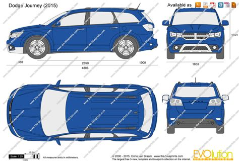 Dodge Journey vector drawing