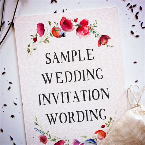 Wedding Wording Samples and Ideas for Indian Wedding