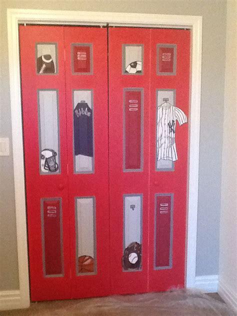 locker room closet door design for the home