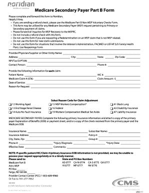fillable nas medicare secondary payer part b form