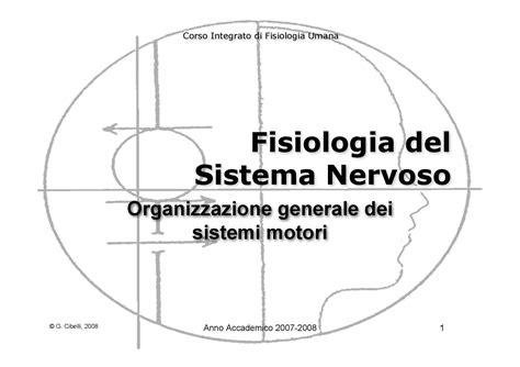 dispense fisiologia fisiologia umana ii organizzazione generale dei sistemi