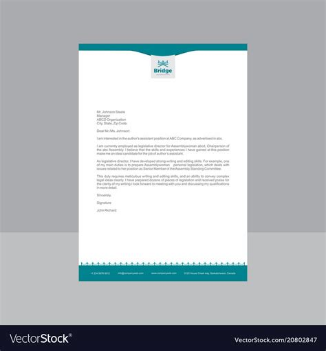 creative blue  white letterhead royalty  vector image