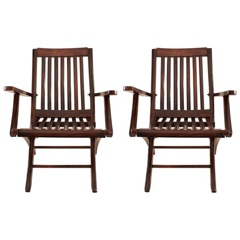 pair of rosewood steamer deck chairs for sale at 1stdibs