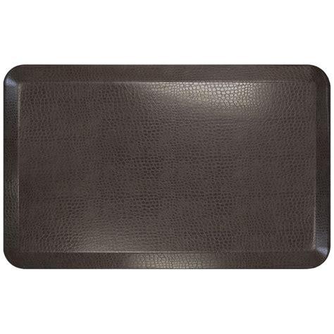 designer kitchen mats newlife designer pebble espresso 20 in x 32 in anti 3253