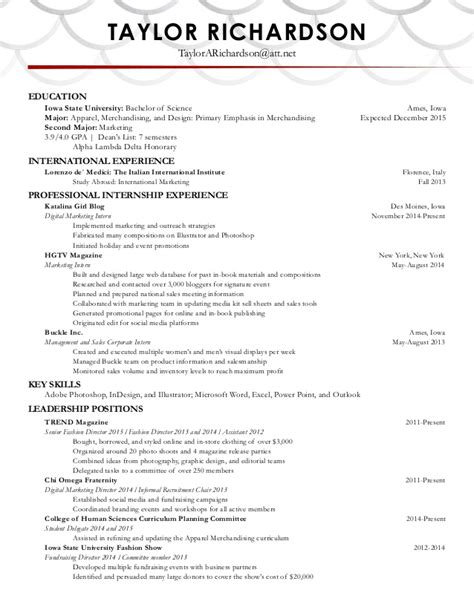 richardson s resume