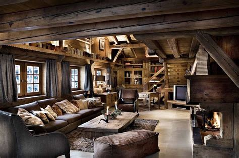 World Of Architecture 30 Rustic Chalet Interior Design Ideas