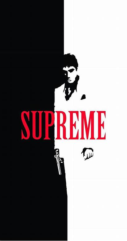Supreme Iphone Wallpapers Scarface Split