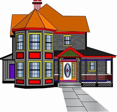 Clipart Clip Mansion Houses Townhouse Mini Cliparts