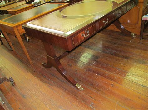 bureau bench bench made inlaid figured mahogany regency style