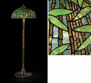 tiffany studios a 39bamboo39 leaded glass and bronze floor With tiffany bamboo floor lamp