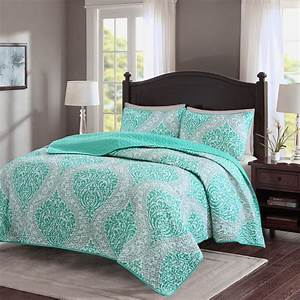 Comfort, Spaces, Coco, Quilt, Mini, Set, Twin, Twin, Xl, Teal