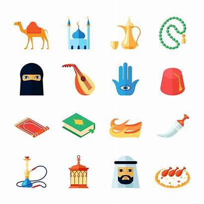 Culture Arabic Icon Vector Flat Religion Middle
