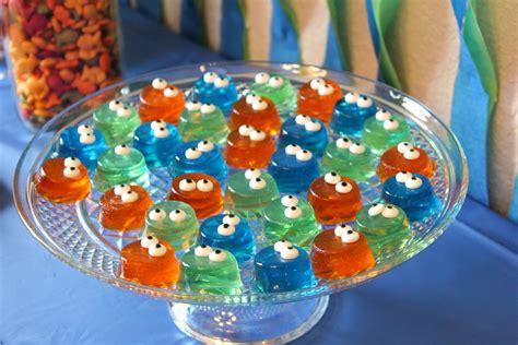 monster  birthday party monster jell os monster