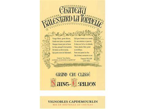 chateau balestard la tonnelle ch 226 teau balestard la tonnelle grand cru class 233 de emilion 201 milion grand cru