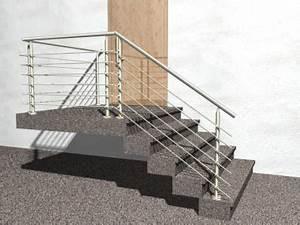 Halbgewendelte Treppe Mit Podest : gel nder treppe mit podest und abschluss mit edelstahl handlauf aus konfigurator ~ Markanthonyermac.com Haus und Dekorationen