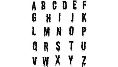 halloween ooze dripping monogram machine embroidery font set