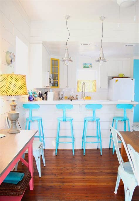 brilliant kitchen bar stools  add   pop  color