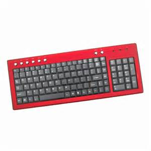 Red Computer Keyboard