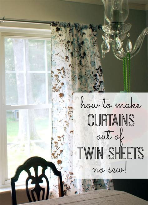 Drapes Made Easy - how to make curtains out of sheets sheets