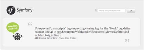 Twig Templates Symfony2 by Php Unexpected Quot Javascripts Quot Tag In A Twig Template In