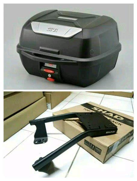 Breket Box Shad Honda Beat Fi jual paketan box givi e43 liter dan per breket box shad