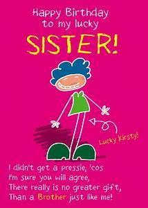 Funny Sister Birthday Card – gangcraft.net
