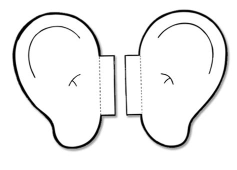 Template For Ears by Listening Coloring Activity Coloring Pages